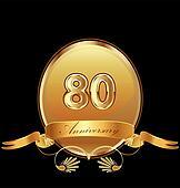 80th anniversary birthday seal