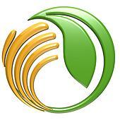 Hand protecting leaf logo