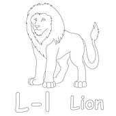L for Lion Coloring Page