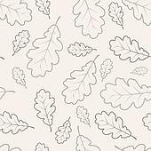 Oak leafs seamless pattern