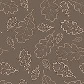 Autumn oak leafs texture