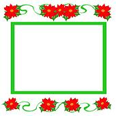 Christmas poinsettia frame