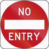 No Entry in Australia