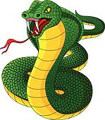 Angry cobra cartoon