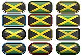 twelve buttons of the Flag of Jamaica
