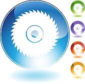circular saw blade crystal