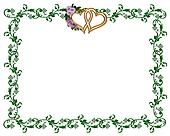 Lavender roses ornamental border