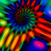 Colorful blurry spiral.
