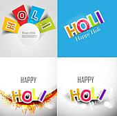 abstract colorful background for stylish holi text festival collection presentation card design vector