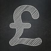 Currency concept: Pound on chalkboard background