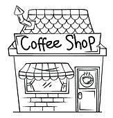 Coffee Shop Clip Art - Royalty Free - GoGraph