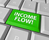 Income Flow Earning Money Investment Profit Revenue Keyboard But