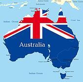 map of australian continent