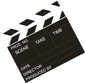 Movie director clapper-board