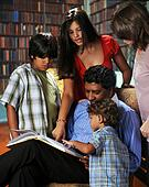 Family in the Library