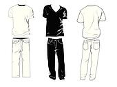 T-shirt and pants templates