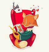 Story of a fox thinking of his girlfriend.