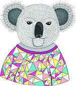 Cute hipster koala