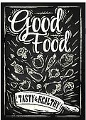 Poster good food chalk