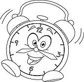 Koekoeksklok Kleurplaat Alarm Clock Cartoon Clip Art Royalty Free Gograph