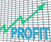 Profit Chart Graph Shows Increase Cash Wealth Revenue