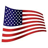 american flag wave independence day