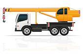 truck crane for construction illustration