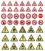 safety and work sign collection