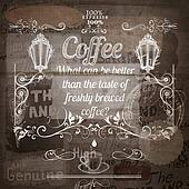 Coffee grunge advertising poster on