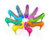 Colorful High Heels