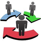 People communicate in team workflow network arrows