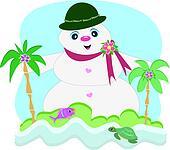 Tropical Snowman