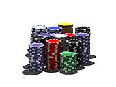 multicolor poker chips
