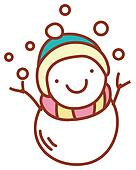 a lovely snowman