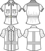 ladies blouse with detail