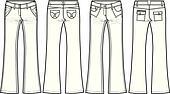 denim jeans skinny flare