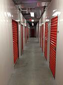 Self storage rollup doors inside