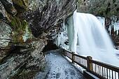 Dry Falls NC Winter Waterfall