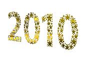 2010 made from golden stars