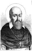 St. Francis de Sales, vintage engraving.