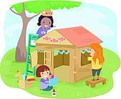 Carton Playhouse Girls