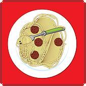 Spaghetti and Meatball Food Icon