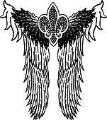 angel royal symbol patch