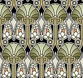 Art nouveau palace pattern