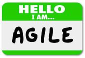 Hello I Am Agile Name Tag Agility Quick Change Adapt