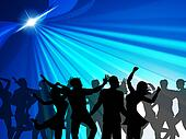 Dancing Party Indicates Cheerful Nightclub And Celebrate