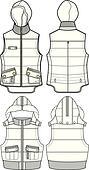 lady padded bomber vest jacket