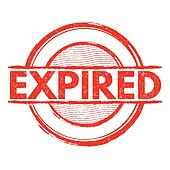 Expired Clip Art - Royalty Free - GoGraph
