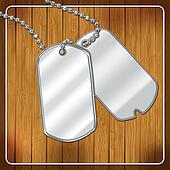 Blank dog tags