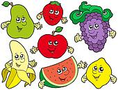 Cartoon fruits collection 2